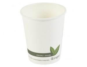 Biodegradable Single Wall Coffee Cups & Lids